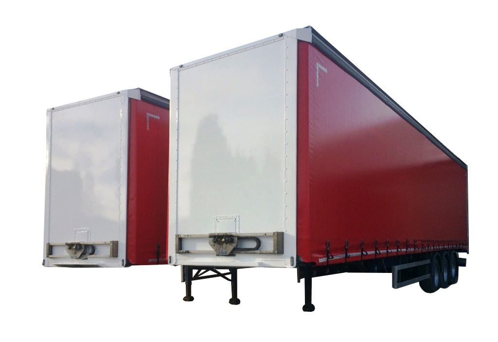 two refurbished 2009 curtain sider trailers at Leeds Trailers