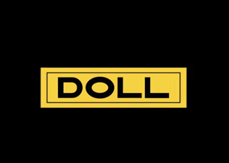 Doll trailers logo on black background