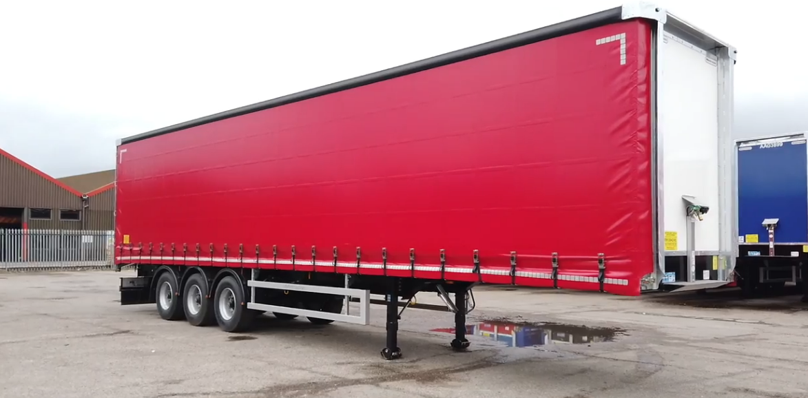 Montracon curtain sided trailer